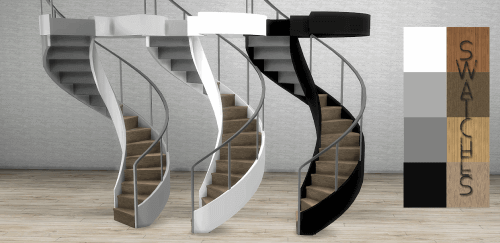 modern staircase for the sims 4 sims 4 cc pinterest haus bauen treppe und haus ideen. Black Bedroom Furniture Sets. Home Design Ideas