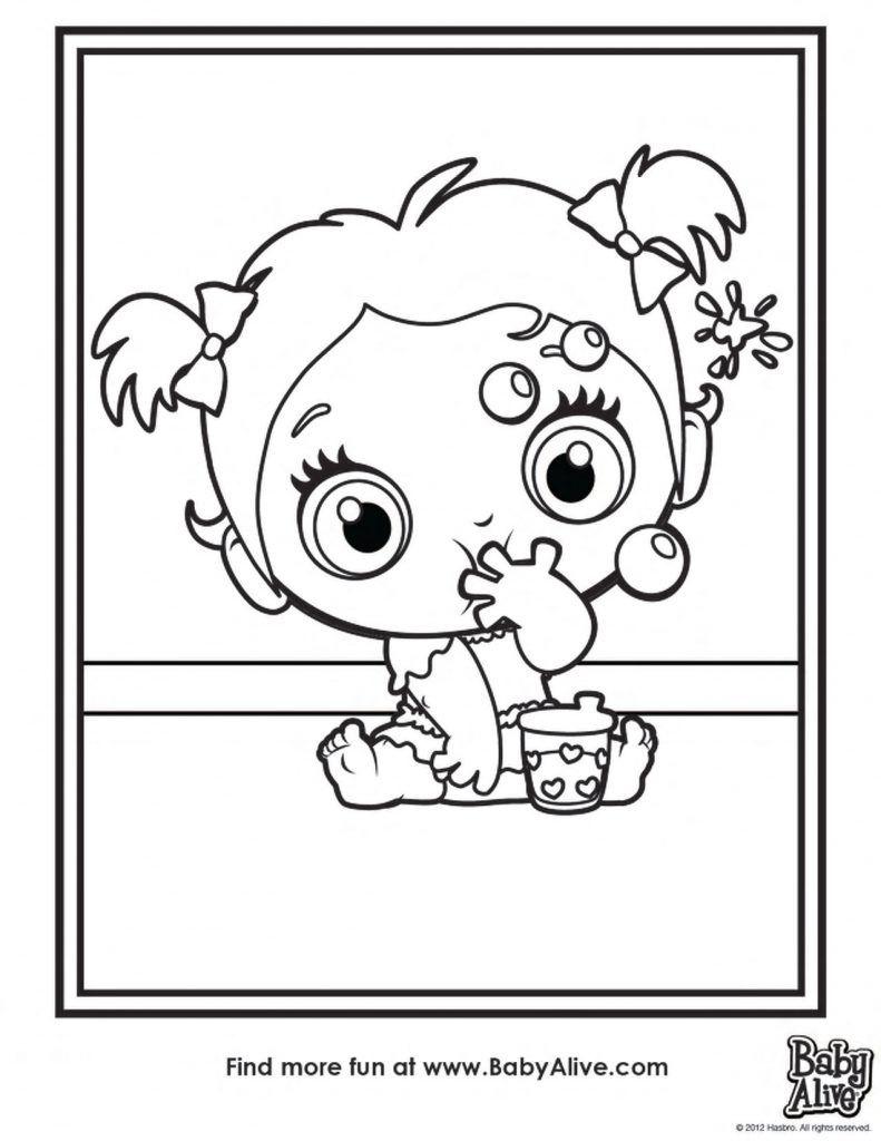 Desenhos Da Baby Alive Para Colorir Pintar E Imprimir Com Imagens Desenhos Colorir Desenho Baby Alive