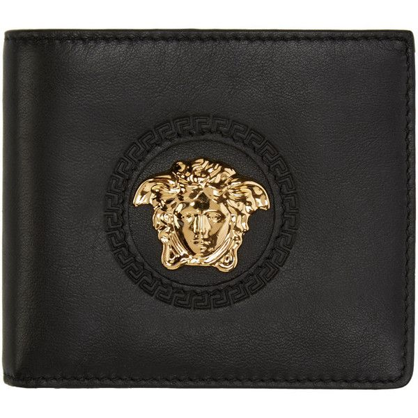 57432cf25327 Versace Black Medusa Wallet ($385) ❤ liked on Polyvore featuring ...