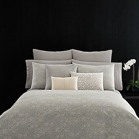 Vera Wang™ Home Crochet Lace Duvet Cover in Grey in 2019