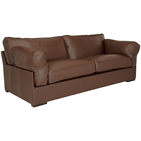 Remarkable John Lewis Partners Java Leather Grand 4 Seater Sofa Cjindustries Chair Design For Home Cjindustriesco