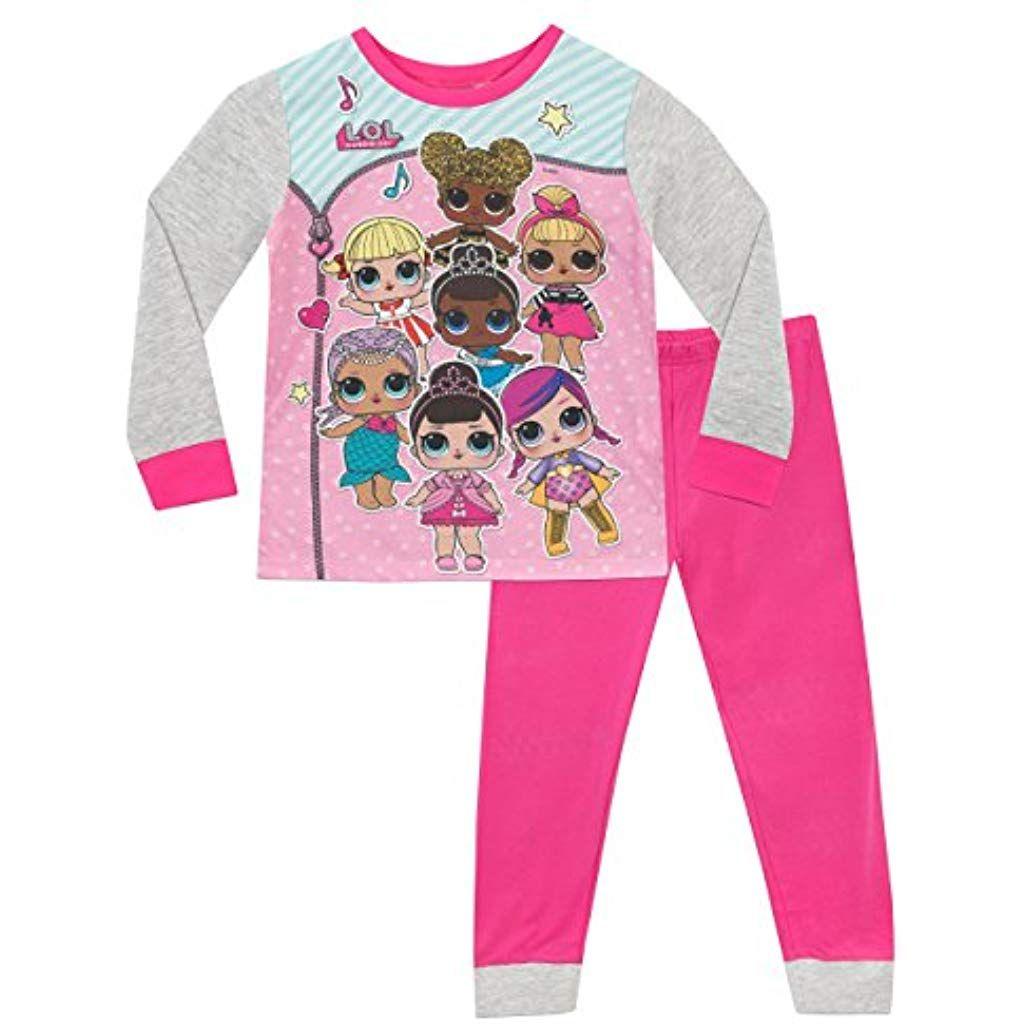 L.O.L Pigiama per Bambine in Cotone Morbido Lil Sisters Bambole Set da Pigiama Surprise
