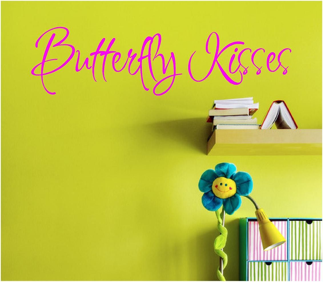 wall decals for teens   ... Wall Decal - Butterfly Kisses - 10 x 36 ...