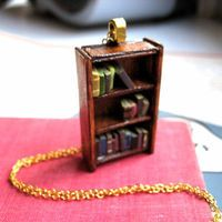 Antique Bookshelf Necklace by Coryographies Made by Coryographies