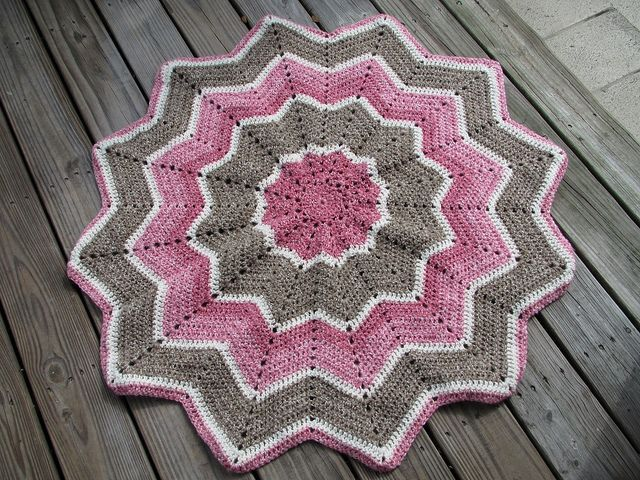 Rainbow Ripple Baby Blanket Free Pattern Crochet Pinterest
