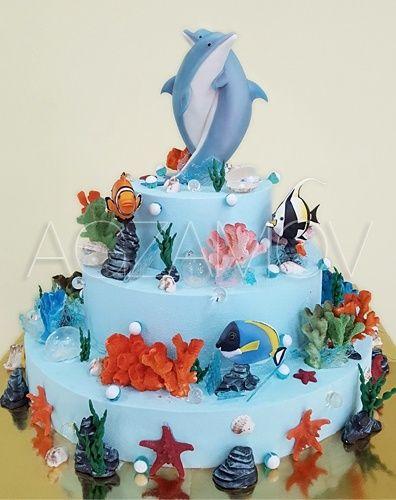 Детский торт на заказ с дельфинами - фото кондитера Рената ...