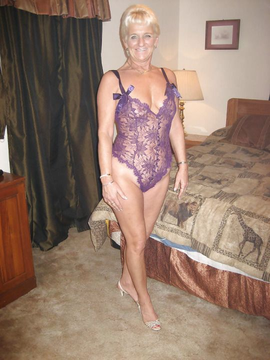 Mature wife in lingerie