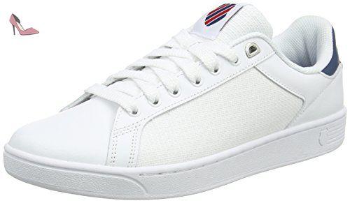 K-Swiss Rinzler SP, Sneakers Basses Homme, Blanc (White/Gull Gray), 46 EU