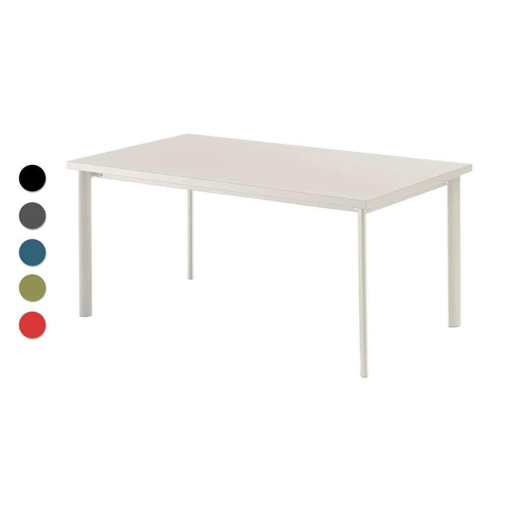 Emu Gartentisch Rechteckig Cambi Stahl Gartentisch Design Tisch Metallmobel