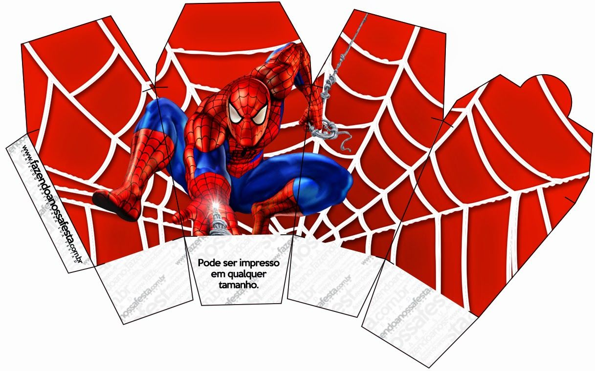 Spiderman Free Printable Boxes Dorian Birthday Ideas Pinterest