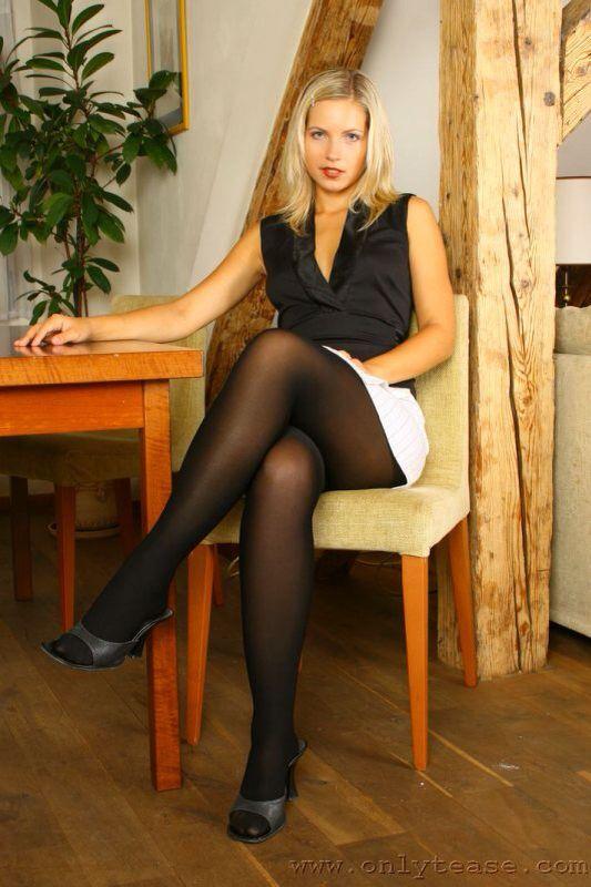Skirt Legs Pantyhose Pics More Full