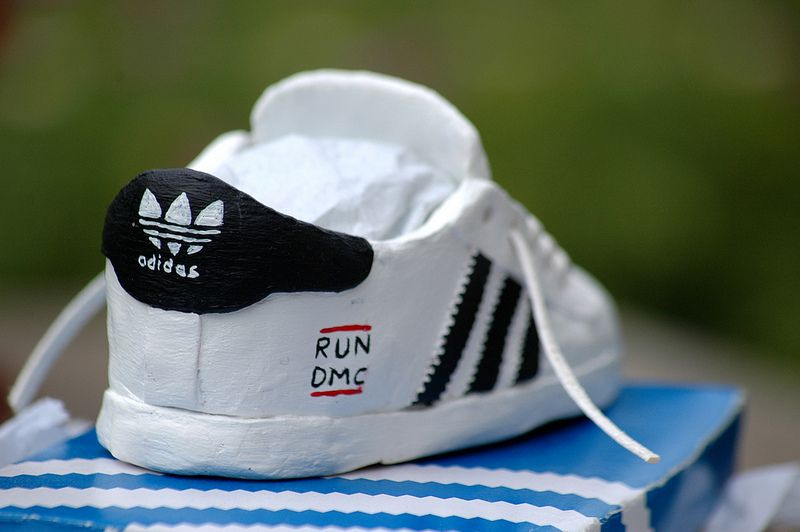 Adidas superstar RUN DMC clay model sneaker hand made and painted. Now up  for sale