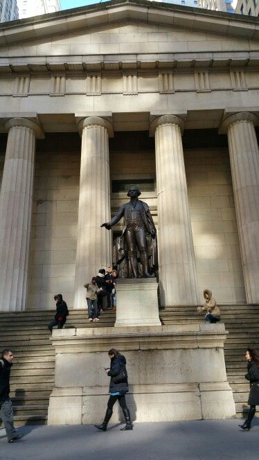 George Washington Statue At Federal Hall United States Customs House George Washington Statue New York City York City