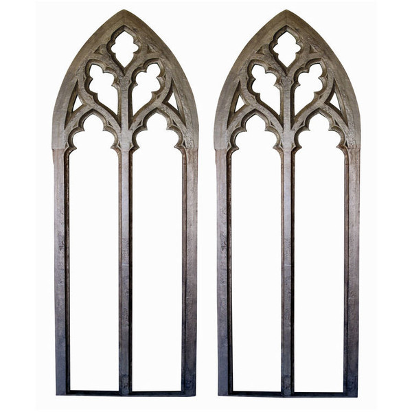A Grand Scaled Pair Of American Neo Gothic Window Frames At 1stdibs Found On Polyvore