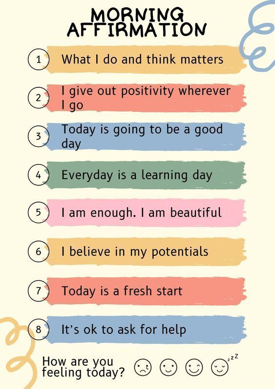 105 morning affirmations for a good day - Kids n Clicks