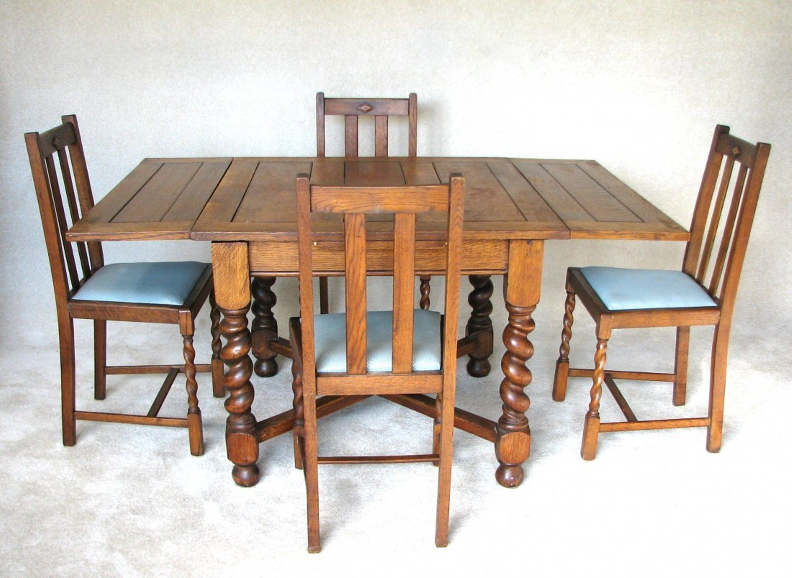 Vintage Blue Formica Table With Chairs Vintage Kitchen Table