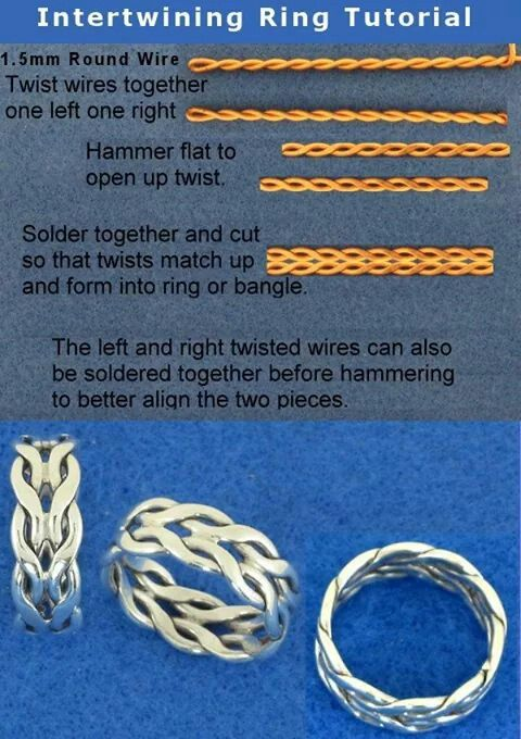 Wire ring tutorial | Craft Ideas | Pinterest | Wire rings tutorial ...