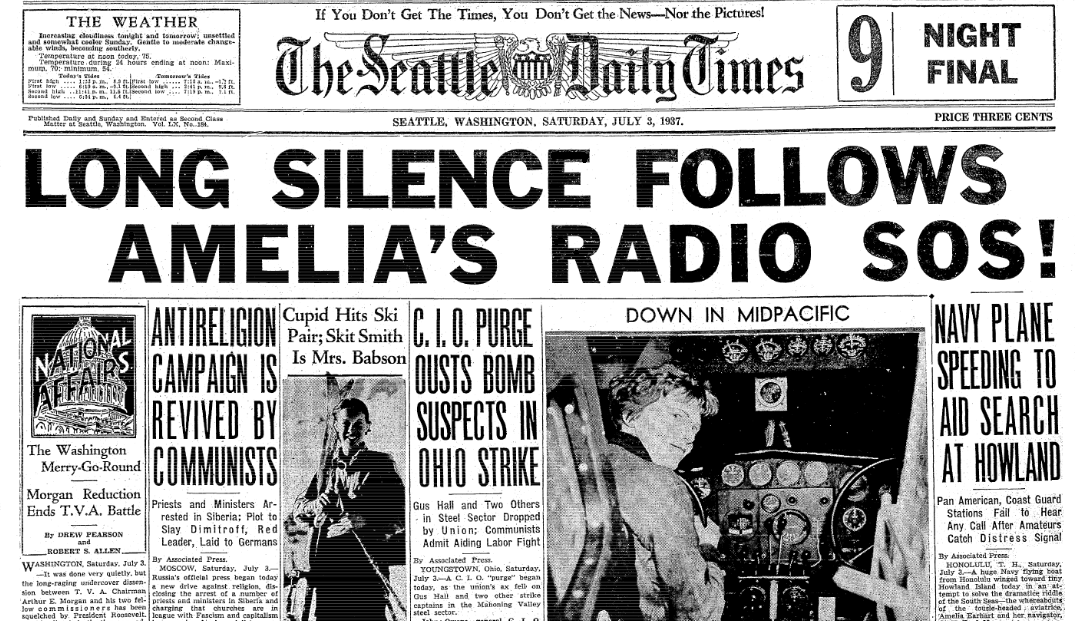 Front-page news about the 1933 Long Beach Earthquake, published in ...