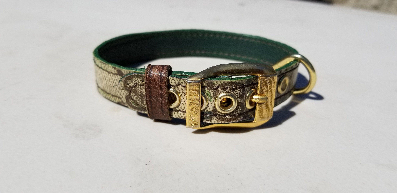"""e290a03f9 Gucci Dog Collars XS S Repurposed authentic GG Monogram 5/8"""" wide ..."""