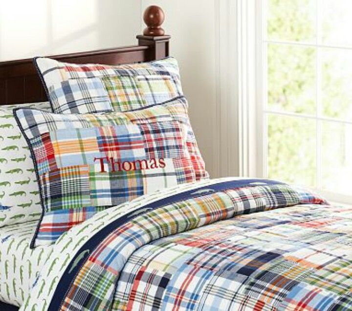 Madras Gator Sheets Amp White Bed Grayson Bedroom Quilt