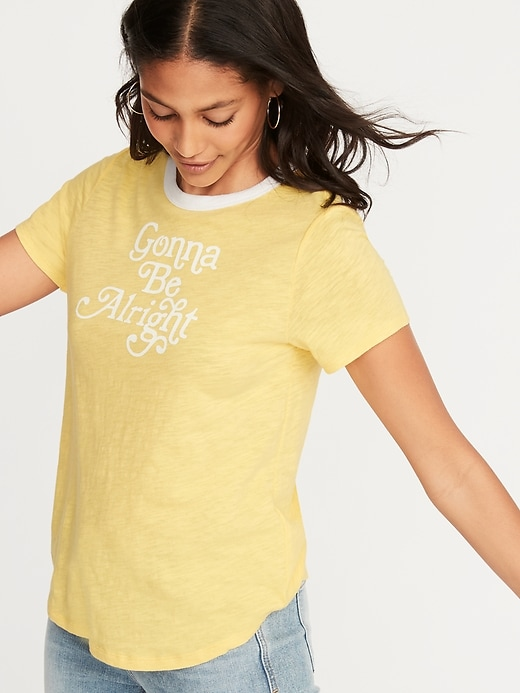 4829108233ce Old Navy Women's Everywear Graphic Tee Gonna Be Alright Size XXL ...