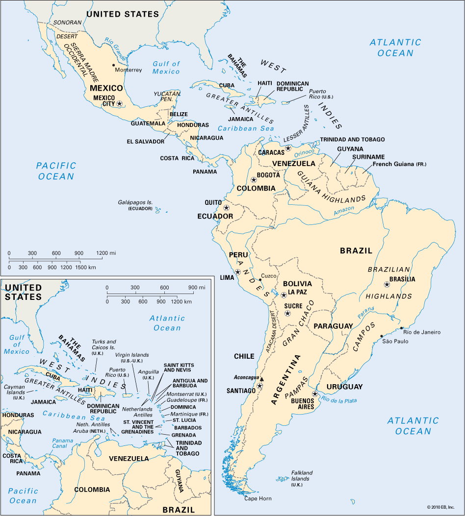 Nice Latin America Map Tours Maps Pinterest Tours Vacations - Map of the latin america