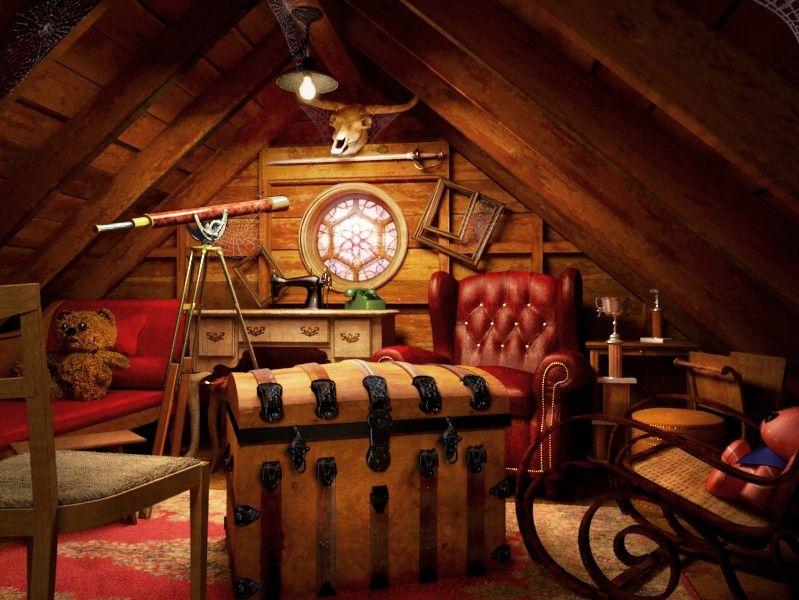 Attic Pictures treasures in the attic | attic, attic spaces and spaces