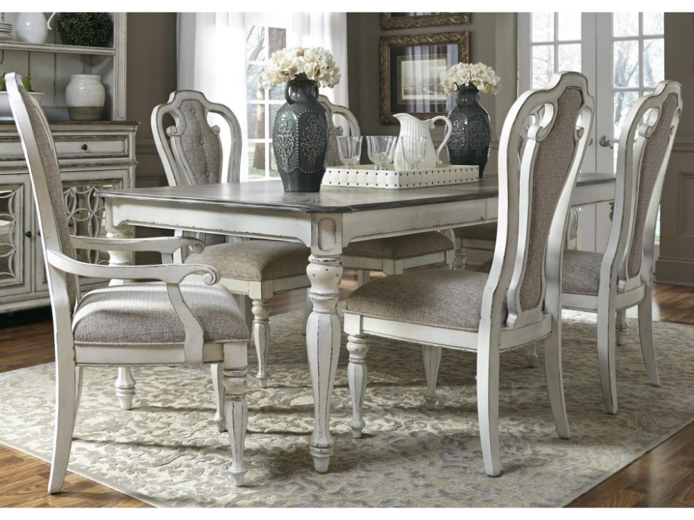 Magnolia Manor Dining 7 Piece Rectangular Table Set With