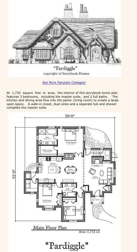 Pardiggle Cottage Storybook Homes Cottage House Plans Unique Cottages