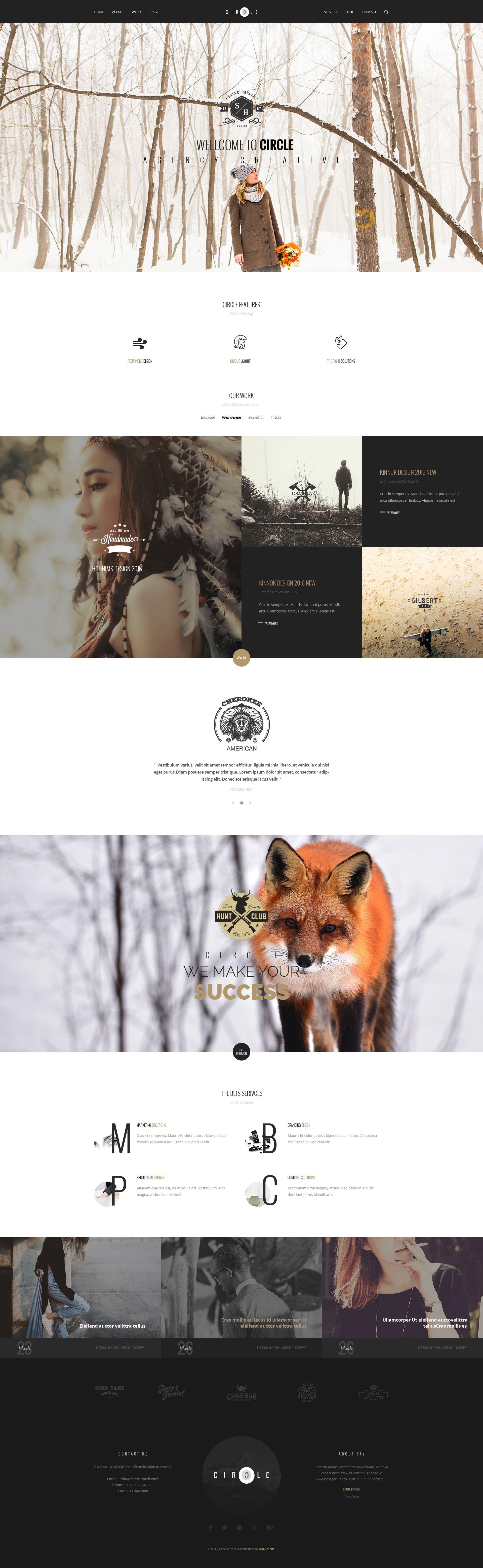 CIRCLE - Creative Multipurpose PSD Template