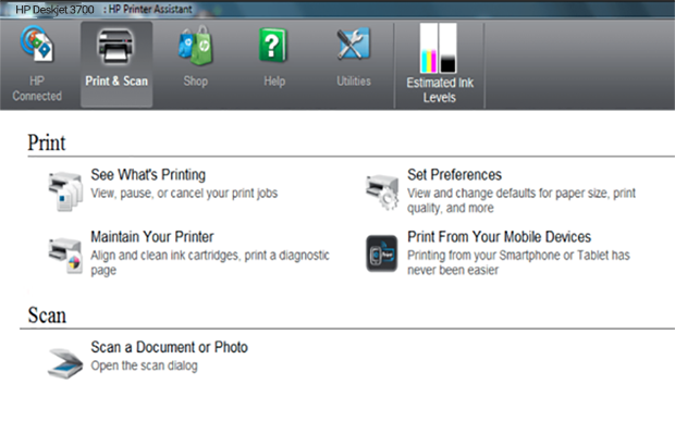 HP Deskjet 3700 how to scan instruction helps to scan to