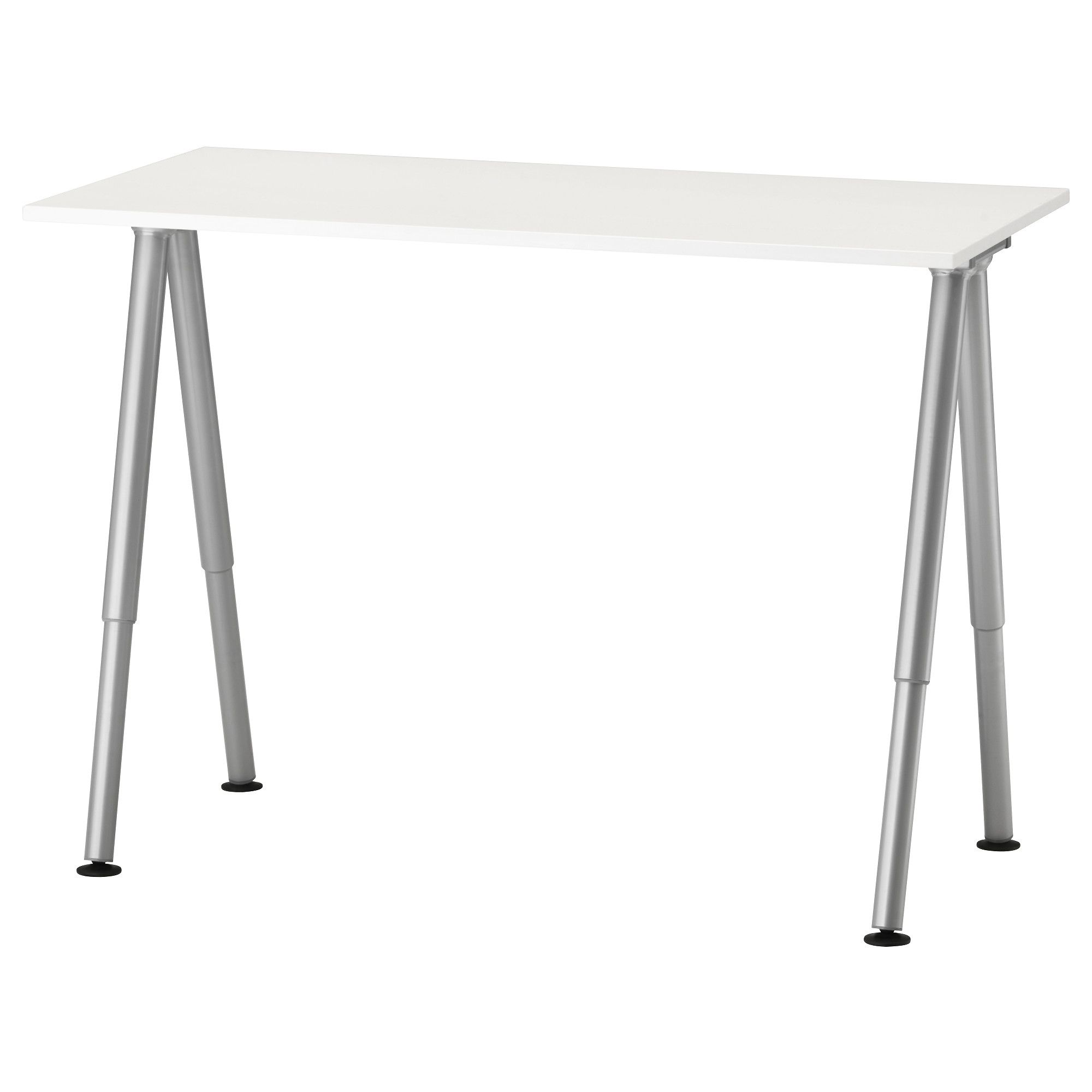 Thyge Desk White Silver Color Ikea Ikea Desk White Office Furniture Round Living Room Table
