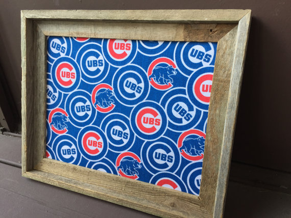 Cork Board Made With Chicago Cubs Fabric Chicago Sports