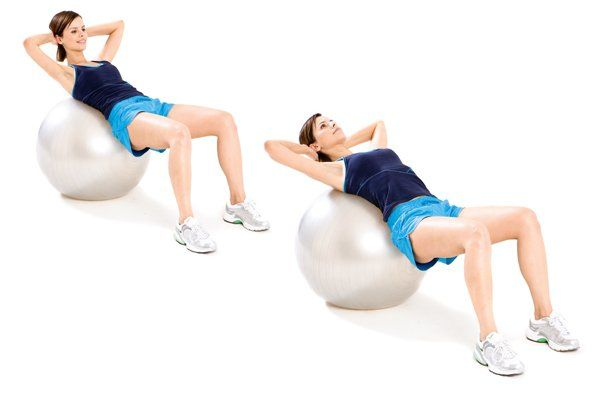 Image result for 8. Exercise Ball Crunch: