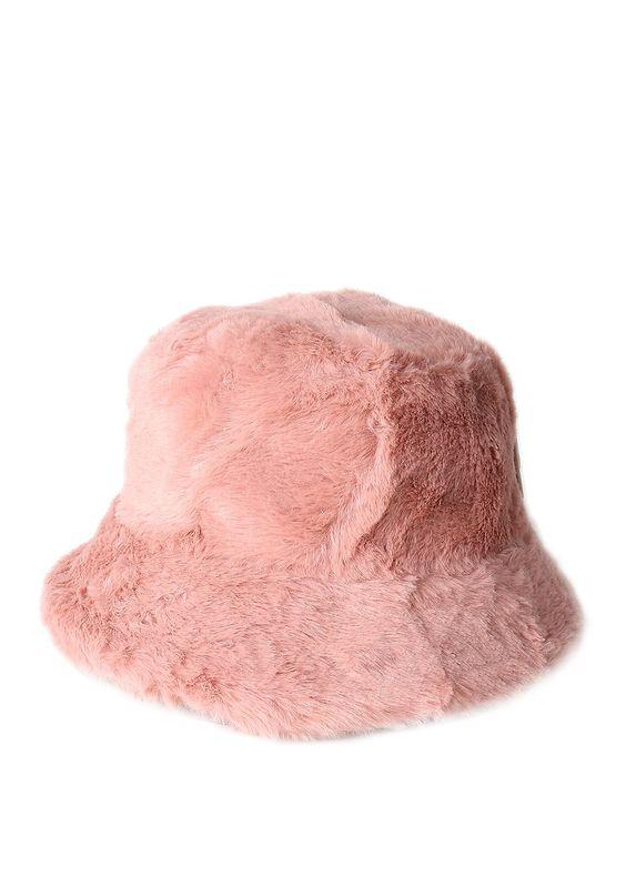 Faux Fur Fluffy Bucket Hat Pink  7c7ac7b12e0f