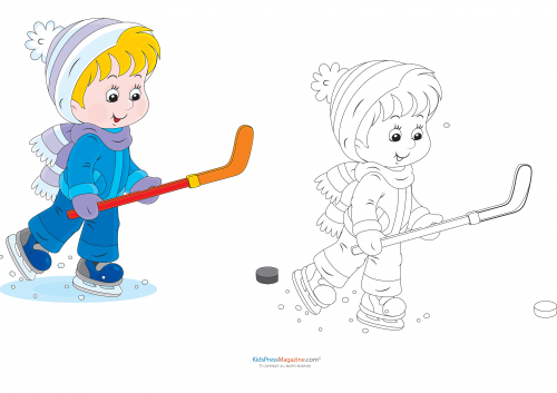 Match Up Coloring Pages Ice Hockey Kidspressmagazine Com Coloring Pages Sports Coloring Pages Preschool Color Activities