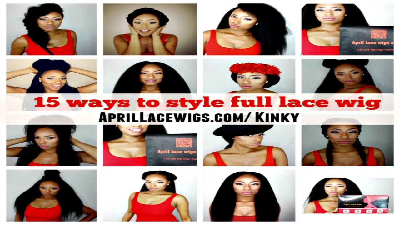 aef64f1770 How to style a full lace wig 15 styles Italian Yaki wig  Aprillacewigs