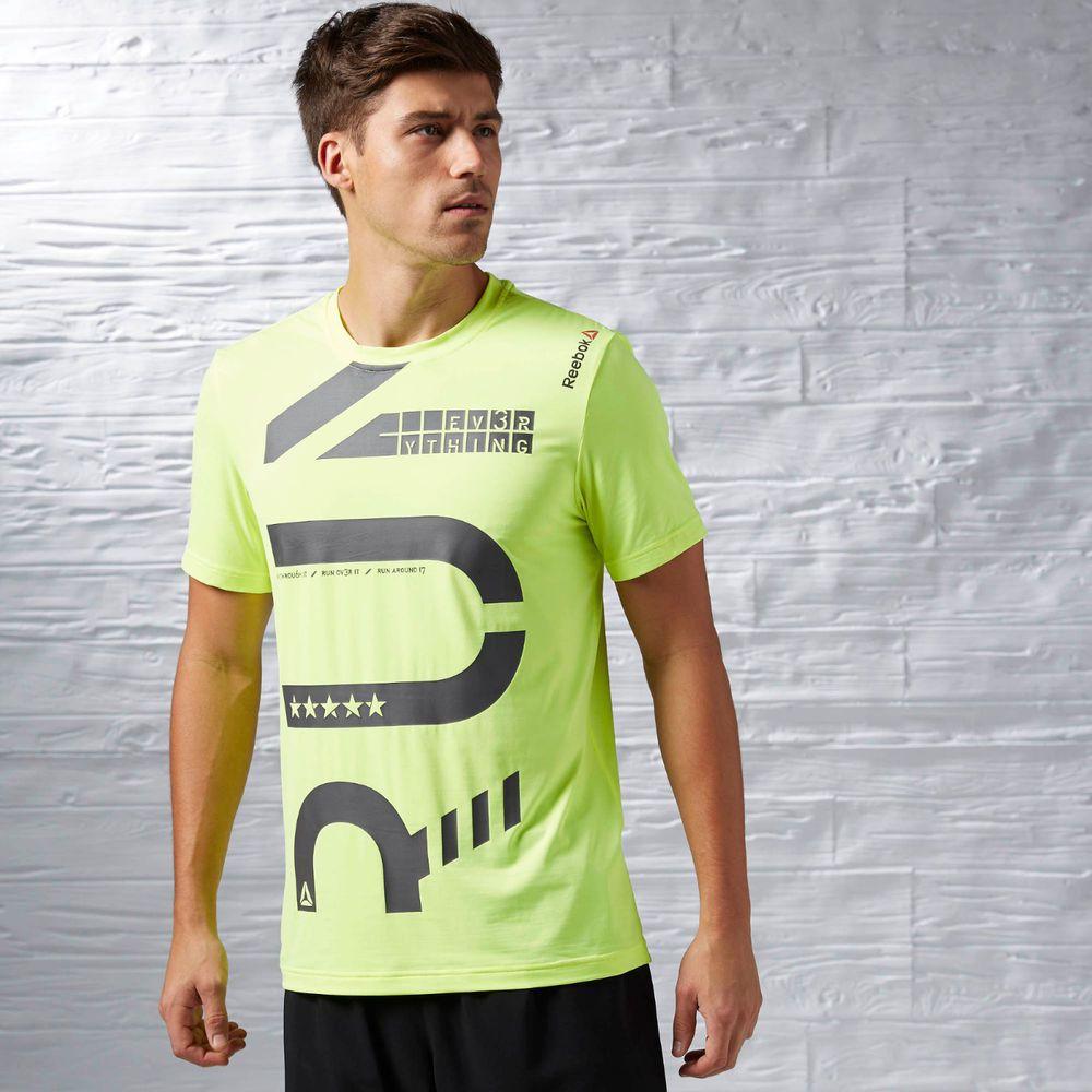 reebok t shirt mens green