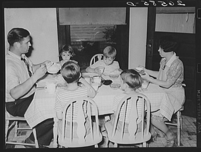 The Shorts family at dinner. Aliquippa, Pennsylvania