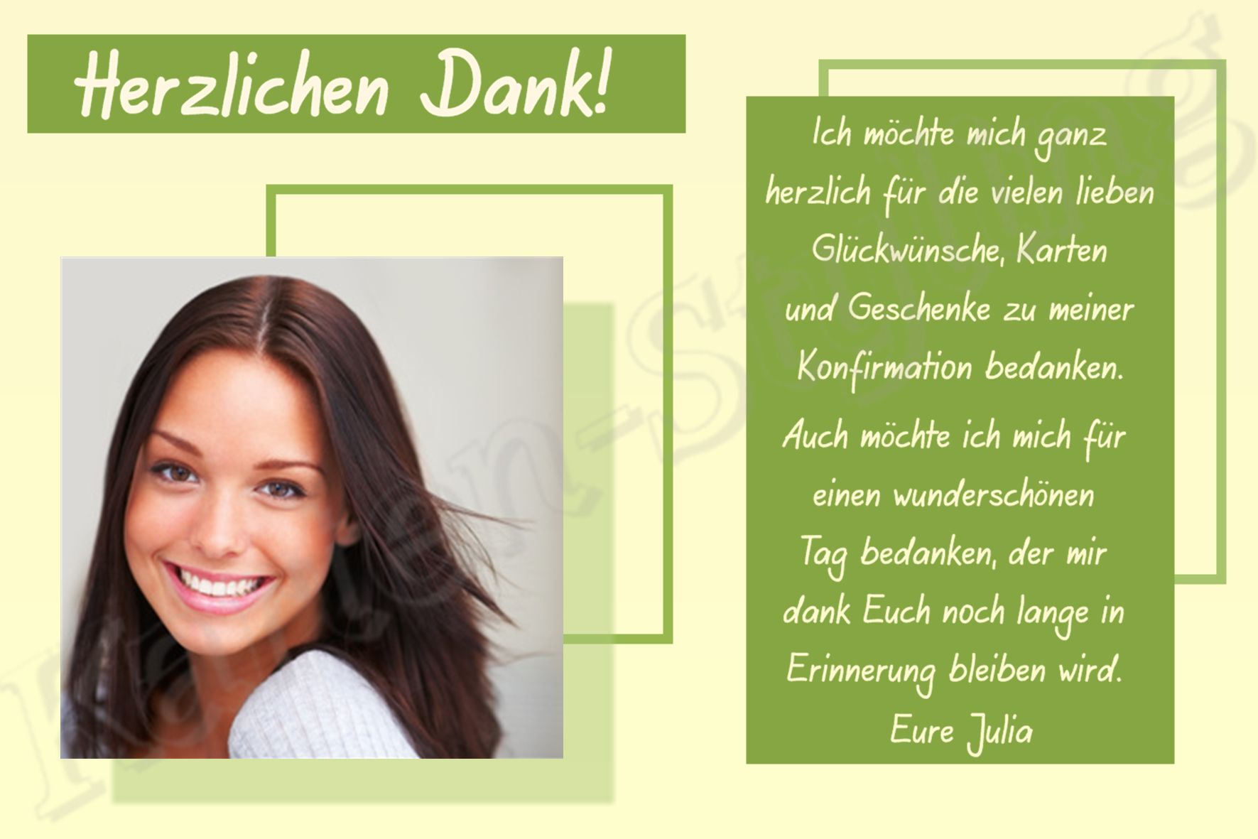 Dankeskarten Konfirmation Dankeskarten Konfirmation