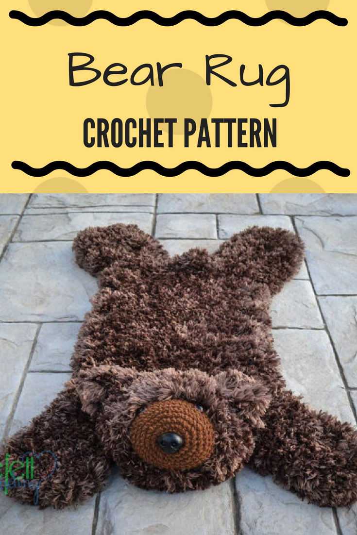 Bear Rug Crochet Pattern Cute Bear Rug Pattern Perfect For Baby