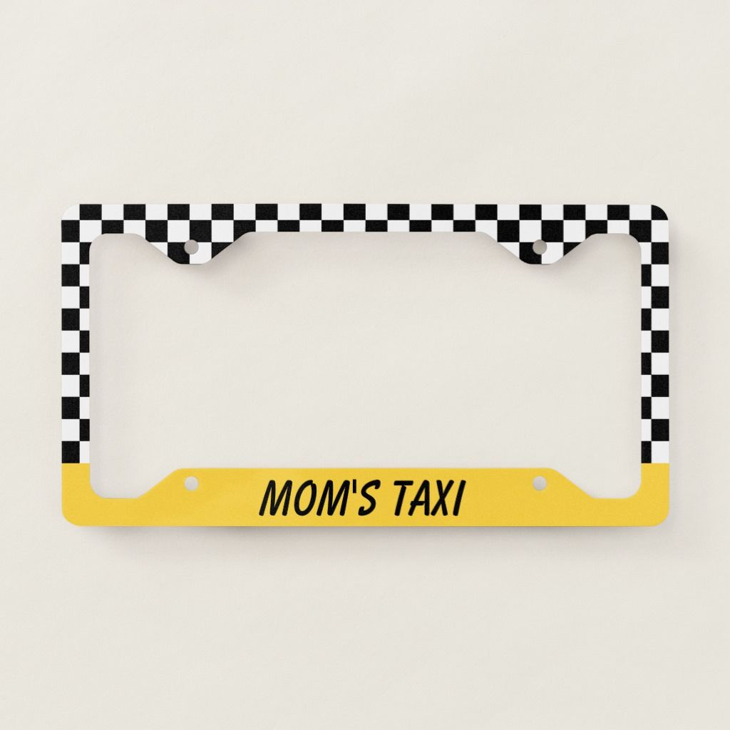 Mom S Taxi Car Auto License Plate Frame Gift Zazzle Com In 2021 Car License Plates License Plate Frames Plate Frames [ 1024 x 1024 Pixel ]