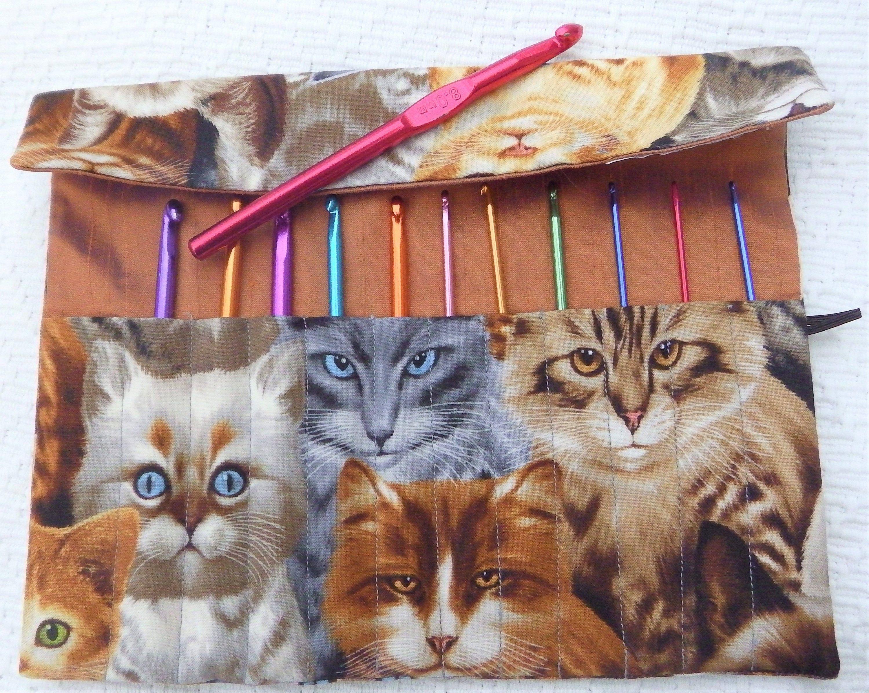 Crochet Hook Case, Makeup Brush Roll, Makeup Brush Case