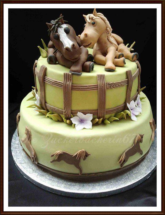 Birthday Cake With Horses By Diezuckerbckerin67 Cakesdecor