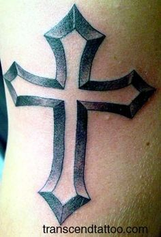 80f3c36816a72 Simple Cross Tattoo, Cross Tattoo For Men, Cross Tattoo Designs, Tattoo  Designs Men