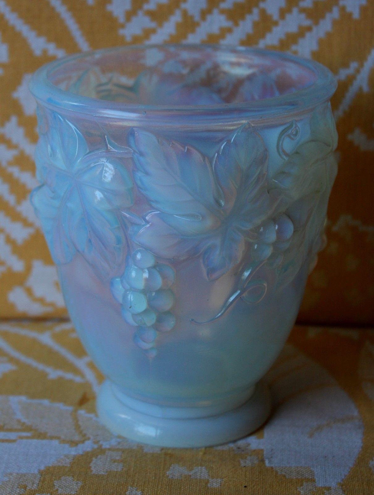 Etling France Vase Rafraichissoire A Raisin 13 5cm Haut Bon Etat French Antiques Vase Art Nouveau Art