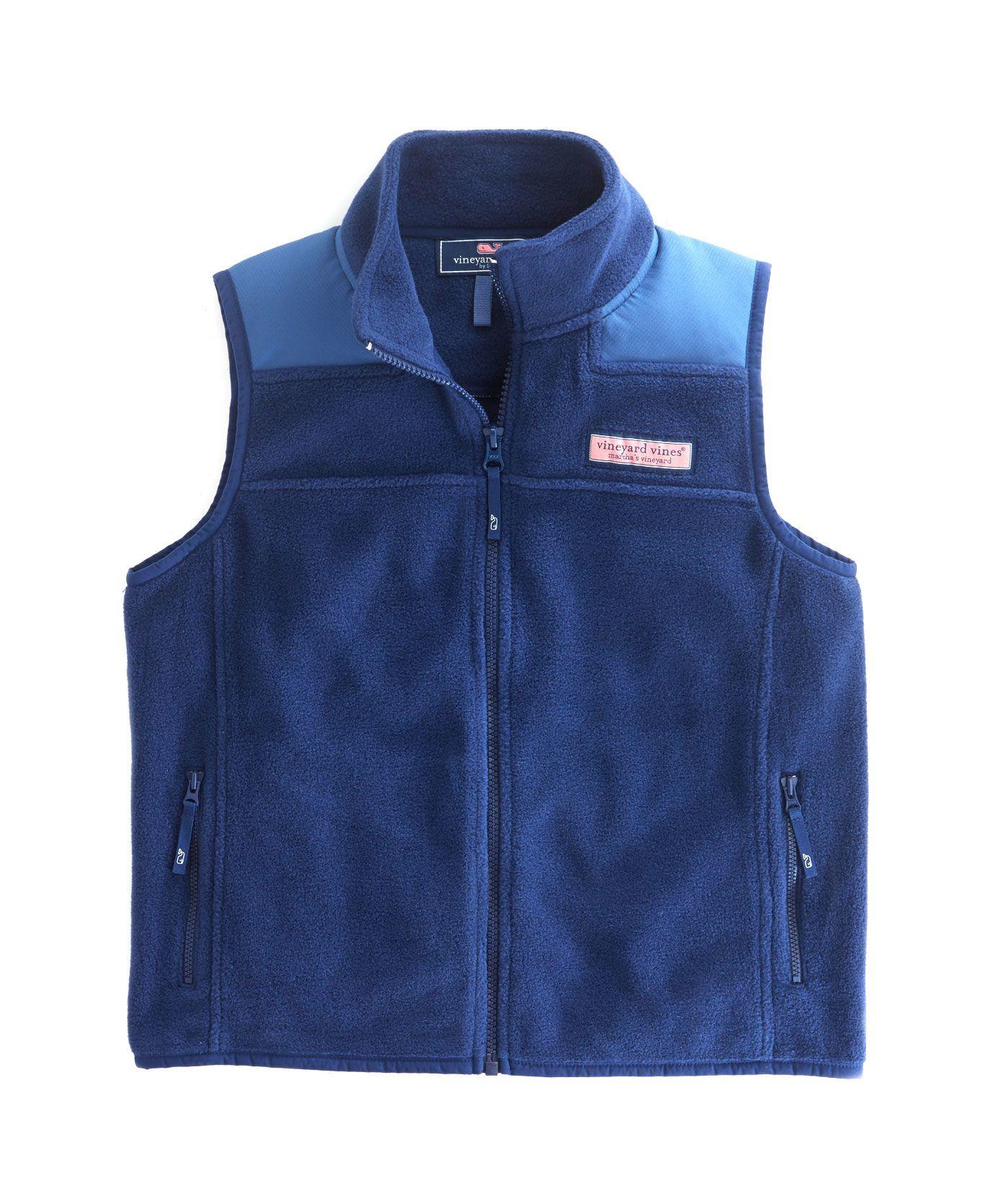 Shop boys fleece shep vest at vineyard vines liam pinterest