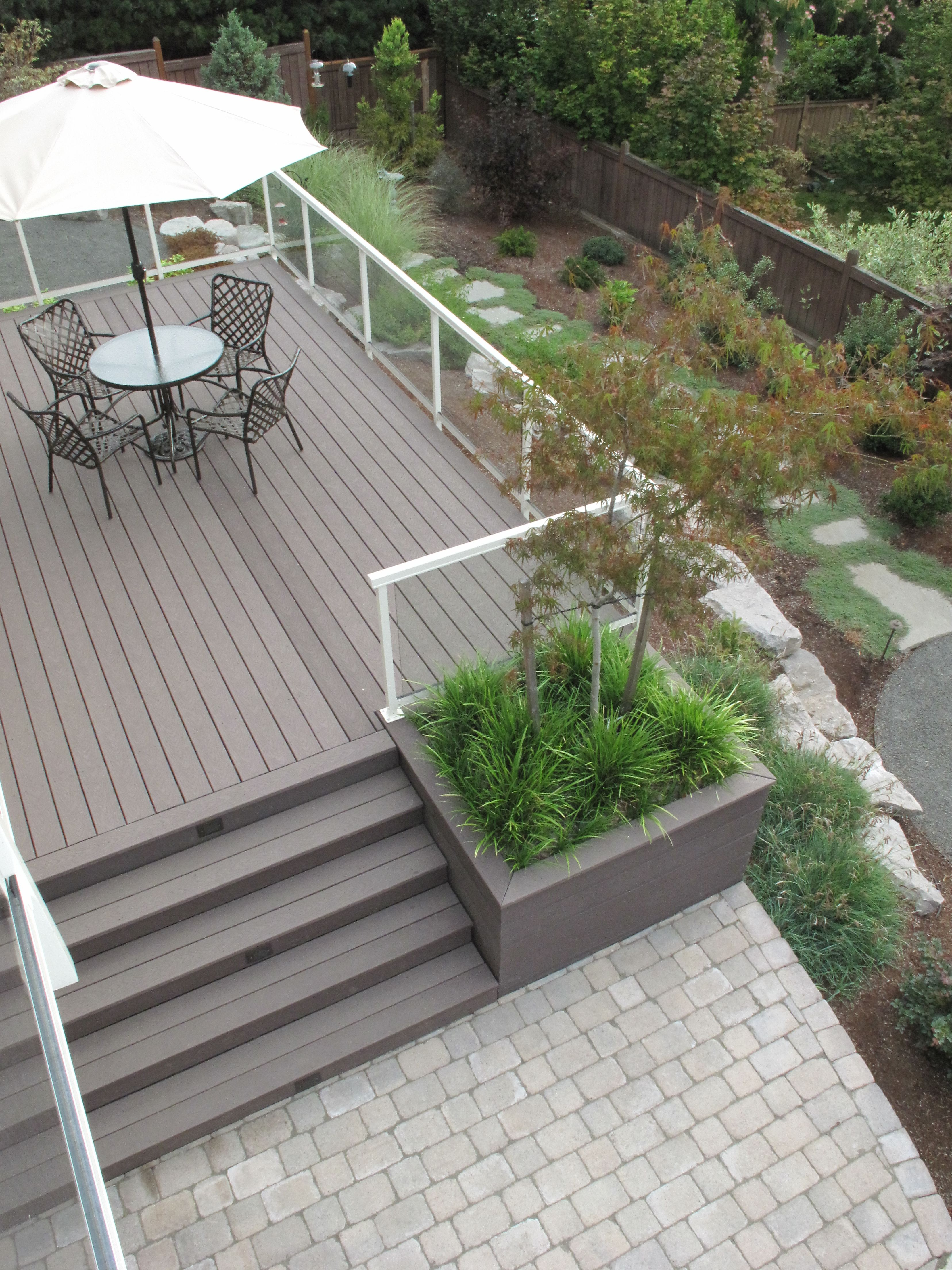 Composite Deck With Built In Planter By Landscape East