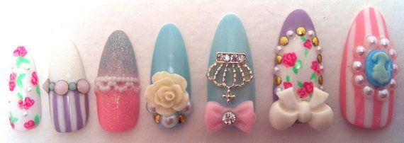 Hey, I found this really awesome Etsy listing at https://www.etsy.com/listing/224952687/very-antoinette-press-on-nails