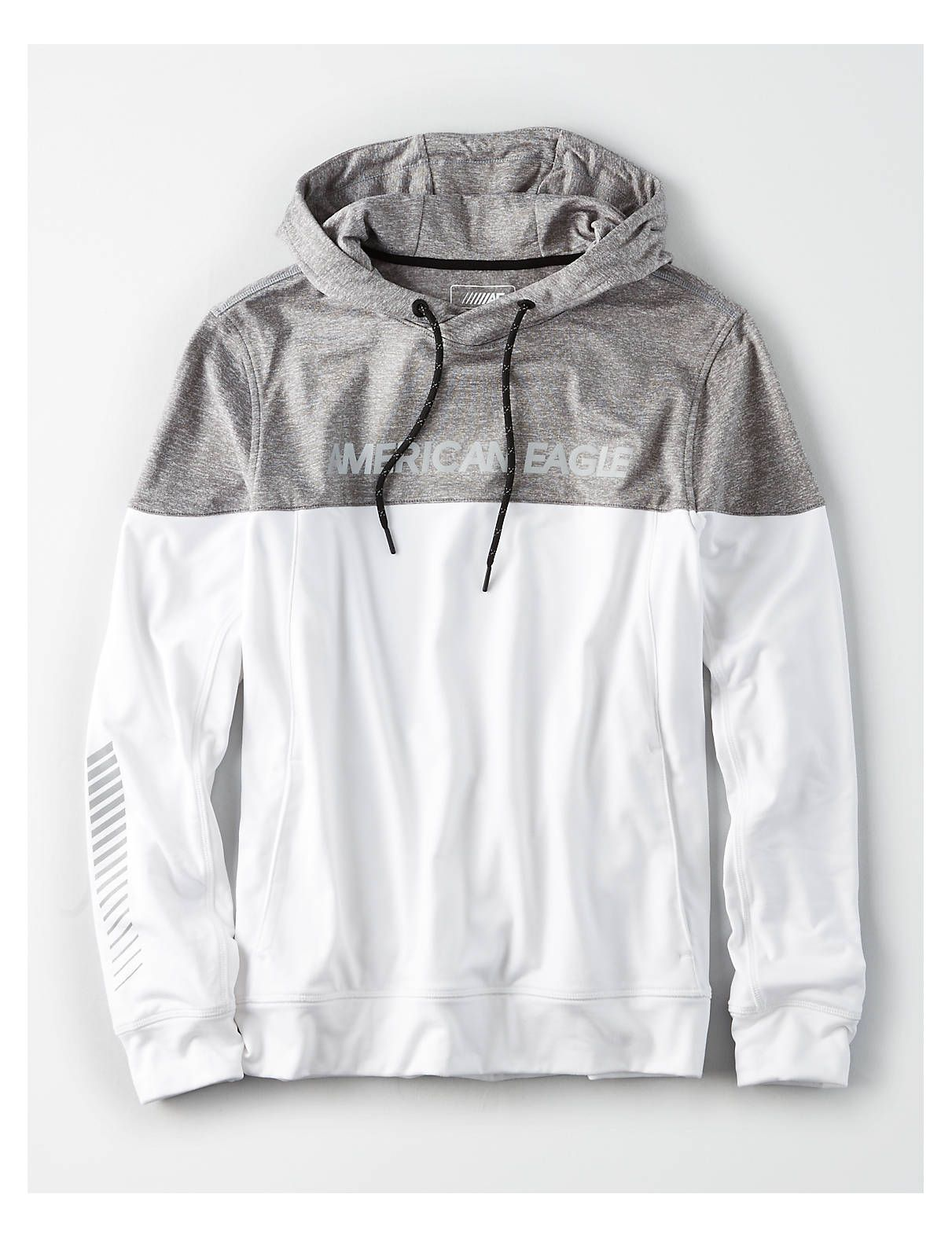 Ae Active Colorblock Hoodie White American Eagle Outfitters Hoodies Mens Outfitters Clothes [ 1575 x 1211 Pixel ]